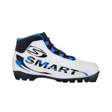 Ботинки лыжные sns smart 457/2, синт. кожа, белые