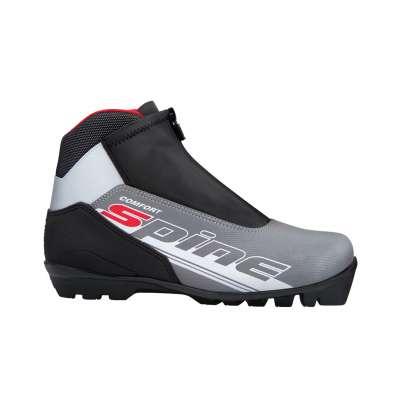 Ботинки лыжные sns comfort 483/7, синт. кожа, черные