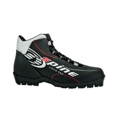 Ботинки лыжные sns viper 452, синт. кожа, черные